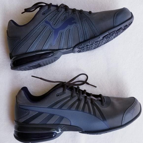 PUMA Gray and Blue Shoes. M 5b6354c7a31c333d3c0cef46 7338fcc2b
